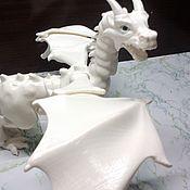 Шарнирная кукла ручной работы. Ярмарка Мастеров - ручная работа Белый Дракон Braq бжд шарнирный, подвижный, 40х40 см, видео. Handmade.