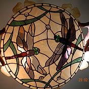 """Для дома и интерьера ручной работы. Ярмарка Мастеров - ручная работа Потолочный плафон """"Стрекозы"""". Handmade."""