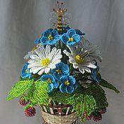 Цветы и флористика ручной работы. Ярмарка Мастеров - ручная работа Букет с пчёлкой. Handmade.