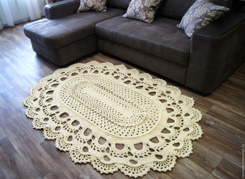 вязаные ковры из полиэфирного шнура на заказ цена