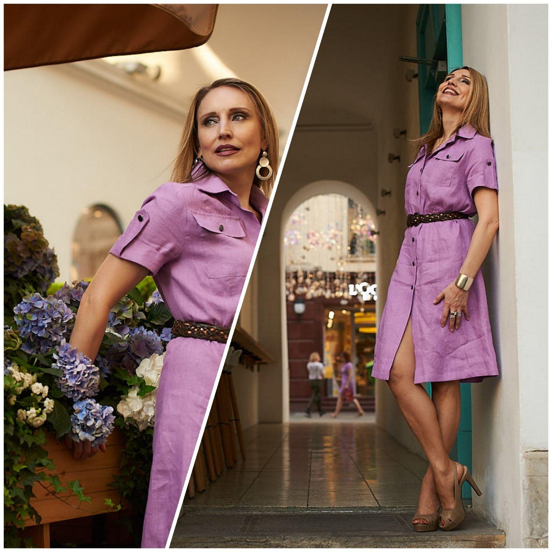 Linen dress ' Lavender', Dresses, Moscow,  Фото №1