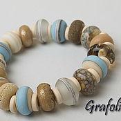 Украшения handmade. Livemaster - original item Bracelet boho beige blue Halkidiki. Handmade.