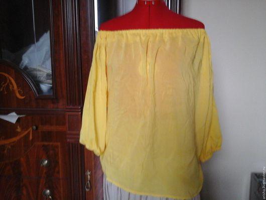 Блузки ручной работы. Ярмарка Мастеров - ручная работа. Купить блузка из  хлопка желтая. Handmade. Цветочный, юбка женская, бохо