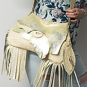 Сумки и аксессуары handmade. Livemaster - original item Shoulder bag, genuine leather, silver sheepskin. Silver pearl. Handmade.