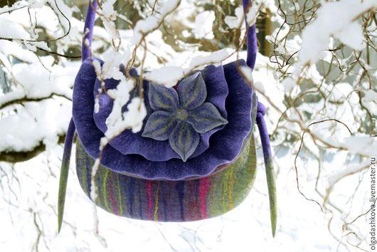 Женские сумки ручной работы. Ярмарка Мастеров - ручная работа. Купить В ожидании весны....... Handmade. Фиолетовый, шёлк