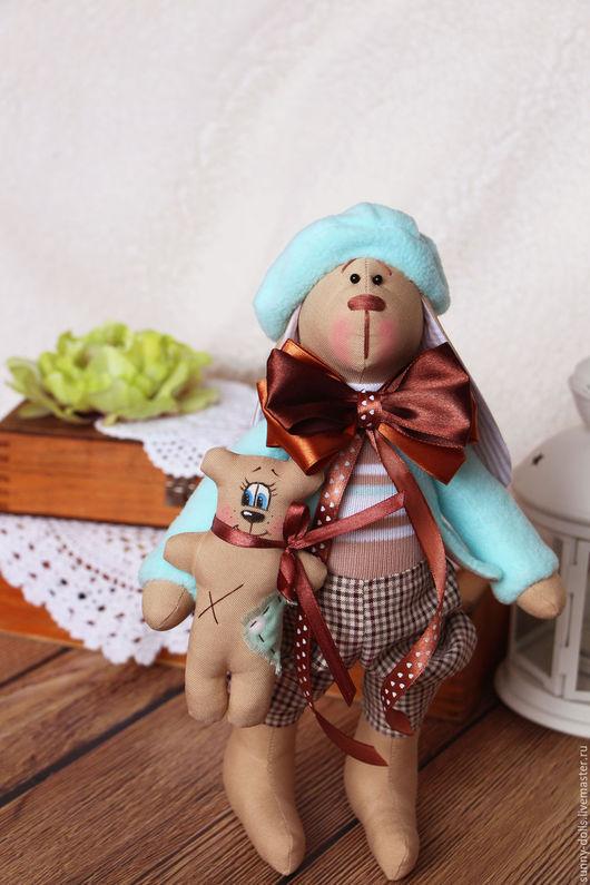 Куклы Тильды ручной работы. Ярмарка Мастеров - ручная работа. Купить Зайка Эрик. Handmade. Комбинированный, зайка в одежде, габардин