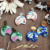Украшения handmade. Livemaster - original item Fashion stud earrings. Arch earrings. Multi-colored earrings. Handmade.