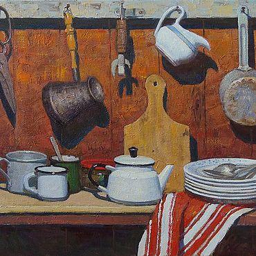 """Картины и панно ручной работы. Ярмарка Мастеров - ручная работа Картины: """"На даче"""". Handmade."""