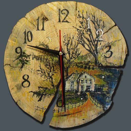 Часы для дома ручной работы. Ярмарка Мастеров - ручная работа. Купить часы. Handmade. Краски акриловые, лак, акрил, краски