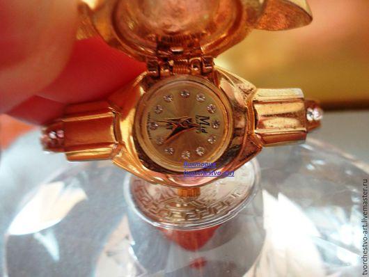 """Винтажные украшения. Ярмарка Мастеров - ручная работа. Купить Часы - браслет """"Змеи""""  винтаж. Handmade. Золотой, часы-браслет, змея"""