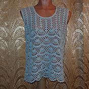 Одежда ручной работы. Ярмарка Мастеров - ручная работа Топ бледно-голубой. Handmade.