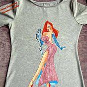 Одежда ручной работы. Ярмарка Мастеров - ручная работа Платье с росписью. Handmade.
