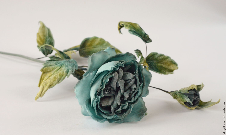 Silk flowers interior rose 'Sea wave', Bouquets, Lyubertsy,  Фото №1
