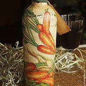 """Подарки к праздникам ручной работы. Ярмарка Мастеров - ручная работа Бутылка вина """"Овощная"""". Handmade."""