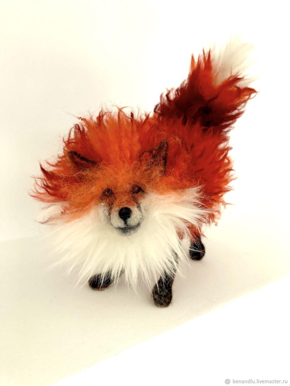 Лиса. Авторская игрушка из шерсти на каркасе, Войлочная игрушка, Санкт-Петербург,  Фото №1