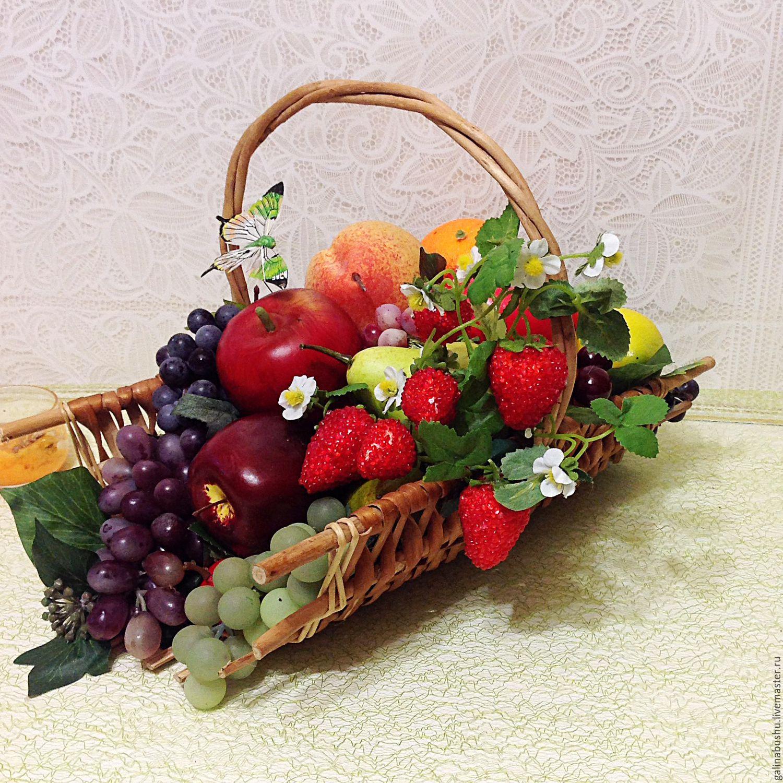Композиции с цветами и фруктами 29