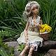 Коллекционные куклы ручной работы. Ярмарка Мастеров - ручная работа. Купить Кукла шарнирная Оливия. Handmade. Бежевый, Холодный фарфор