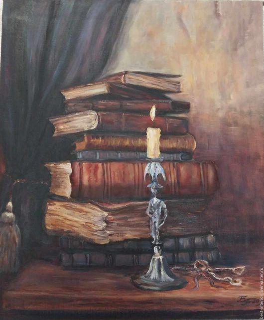 Натюрморт ручной работы. Ярмарка Мастеров - ручная работа. Купить Вечернее чтение. Handmade. Картина, картина в подарок, картина для интерьера