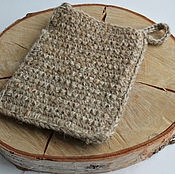 Для дома и интерьера handmade. Livemaster - original item The sponge-mitten from hemp and sheep`s wool
