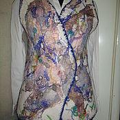Одежда ручной работы. Ярмарка Мастеров - ручная работа Войлочный жилет Абстракция. Handmade.