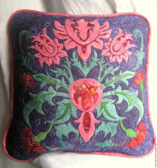 Текстиль, ковры ручной работы. Ярмарка Мастеров - ручная работа. Купить Подушка. Handmade. Комбинированный, подушка декоративная, подушка на диван