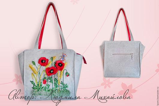Женские сумки ручной работы. Ярмарка Мастеров - ручная работа. Купить Дизайнерская сумка МАКИ с поясом в комплекте. Handmade.