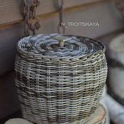 Корзины ручной работы. Ярмарка Мастеров - ручная работа Плетеная корзина. Handmade.