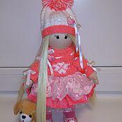 Куклы и игрушки ручной работы. Ярмарка Мастеров - ручная работа Нарядная текстильная куколка. 28-30см.. Handmade.