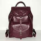 """Рюкзаки ручной работы. Ярмарка Мастеров - ручная работа Бордовый  женский кожаный рюкзак """"Кьянти"""". Handmade."""