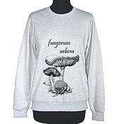 Одежда handmade. Livemaster - original item Mushroom city sweatshirt. Handmade.