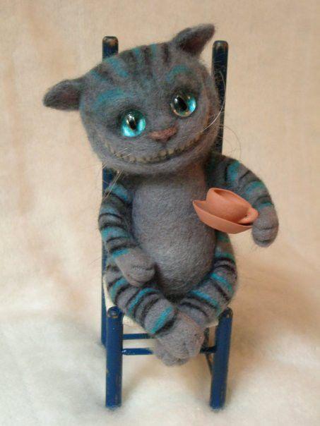 Игрушки животные, ручной работы. Ярмарка Мастеров - ручная работа. Купить Чеширский кот. Handmade. Чеширский кот, глаза стеклянные