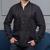 Народные рубахи ручной работы. Ярмарка Мастеров - ручная работа Мужская рубаха с вышивкой. Handmade.