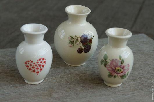 Вазы ручной работы. Ярмарка Мастеров - ручная работа. Купить Мини-вазочка с ежевикой. Handmade. Комбинированный, ваза для цветов, миниатюра