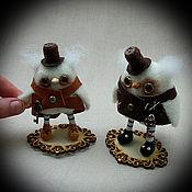 Куклы и игрушки ручной работы. Ярмарка Мастеров - ручная работа Сова стимпанк- мини версия. Авторская кукла. Сова игрушка.. Handmade.