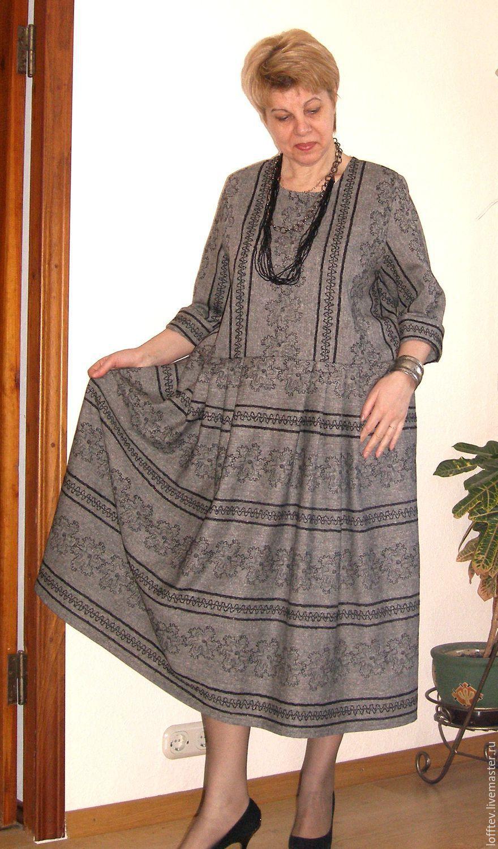 afaf016ad1d Платья ручной работы. Ярмарка Мастеров - ручная работа. Купить Платье  шерстяное машинная вышивка.