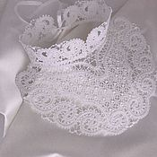 Collars handmade. Livemaster - original item Lace white collar with stand
