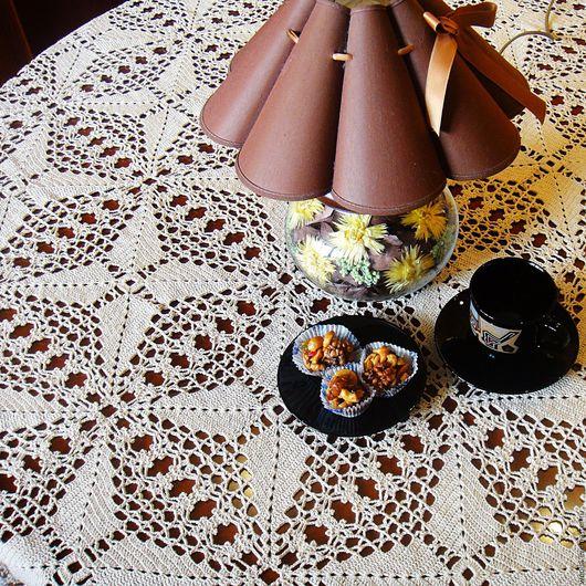 Текстиль, ковры ручной работы. Ярмарка Мастеров - ручная работа. Купить Ванильное торжество- скатерть, связанная крючком. Handmade. Белый