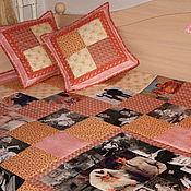 """Подарки к праздникам ручной работы. Ярмарка Мастеров - ручная работа Покрывало с фотографиями """"Нежность"""" / Лоскутное одеяло с фотографиями. Handmade."""
