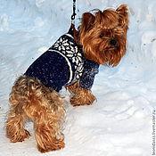 """Для домашних животных, ручной работы. Ярмарка Мастеров - ручная работа Свитер для собаки """"Раз снежинка-два снежинка"""". Handmade."""