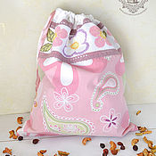 Для дома и интерьера handmade. Livemaster - original item Daisy pouch for herbs, bread, mushrooms.... Handmade.