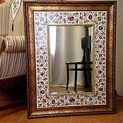 Для дома и интерьера handmade. Livemaster - original item Painted ceramic Mirror Eastern. Handmade.