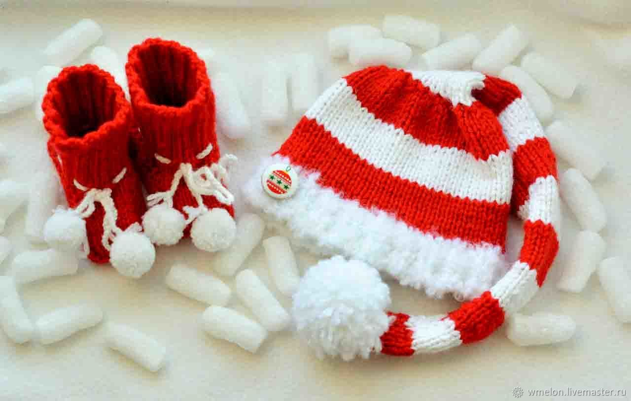 order christmas or new years gnome hat newborn knit props