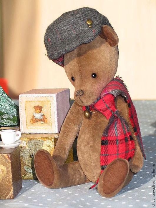 Мишки Тедди ручной работы. Ярмарка Мастеров - ручная работа. Купить Медвежонок Бенджамин. Handmade. Коричневый, медвежонок, глазки стеклянные