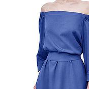 Одежда handmade. Livemaster - original item Romantic dress with bare shoulders. Handmade.