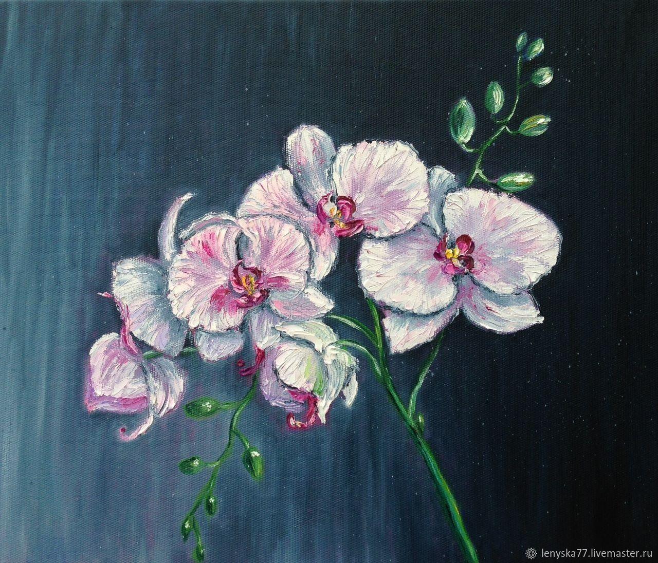 Орхидея 40х50см картина маслом, Картины, Раменское,  Фото №1