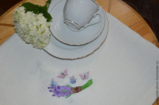 """Текстиль, ковры ручной работы. Ярмарка Мастеров - ручная работа. Купить Салфетка для завтрака """" Утро.Прованс"""". Handmade. Белый"""