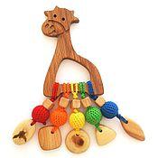 Куклы и игрушки ручной работы. Ярмарка Мастеров - ручная работа Грызунок-прорезыватель Жирафчик. Handmade.