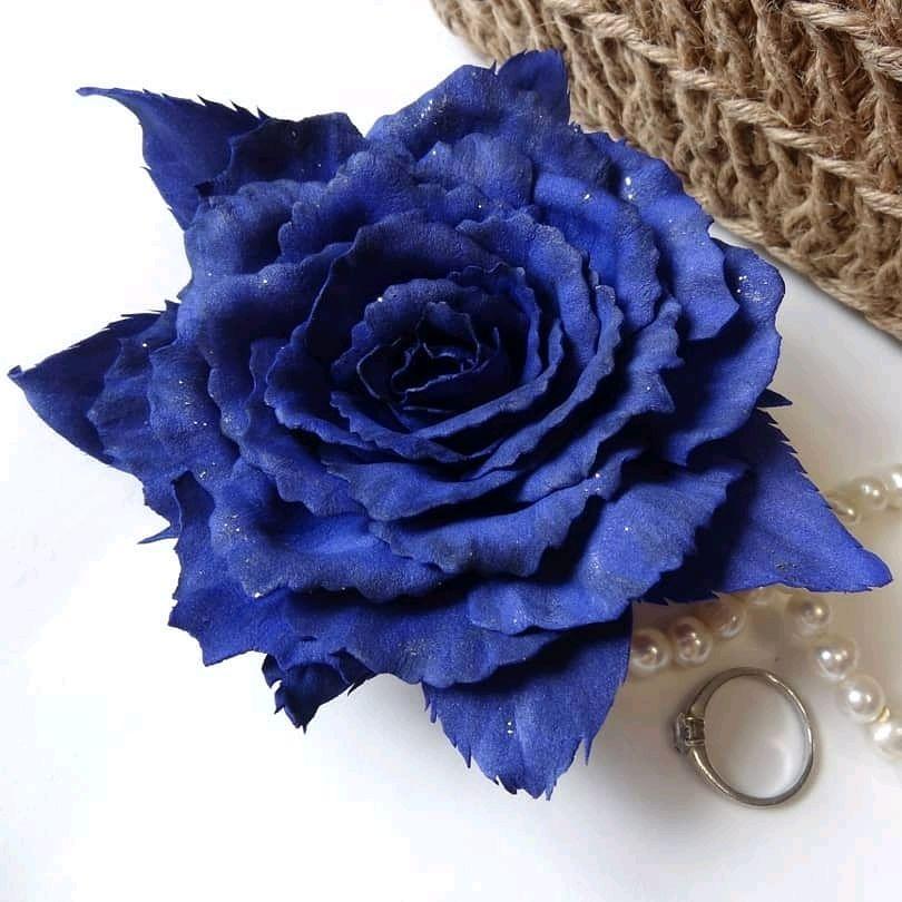 "Брошь ""Синяя роза"", Брошь-булавка, Хабаровск,  Фото №1"