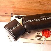 Сумки и аксессуары handmade. Livemaster - original item Hard leather eyeglass case. Handmade.