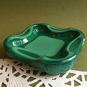 Винтаж handmade. Livemaster - original item Vintage vase ashtray malachite glass Czechoslovakia vintage. Handmade.